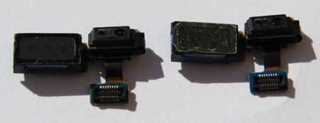 Galaxy S4 I9507 Ear Speaker compared to the i9505