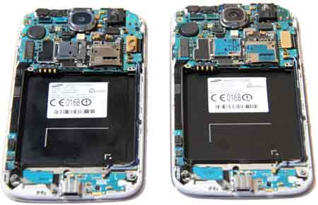 Galaxy S4 I9507 stripped down to the motherboard