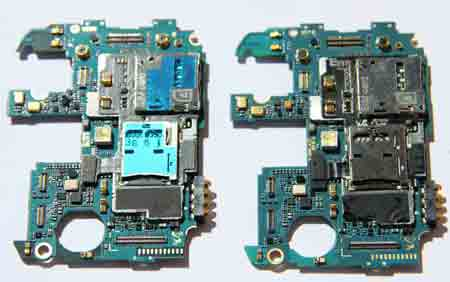 Galaxy S4 I9507 Logic Board vs I9505