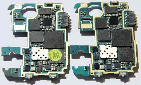 Galaxy S4 I9507 Motherboard vs I9505