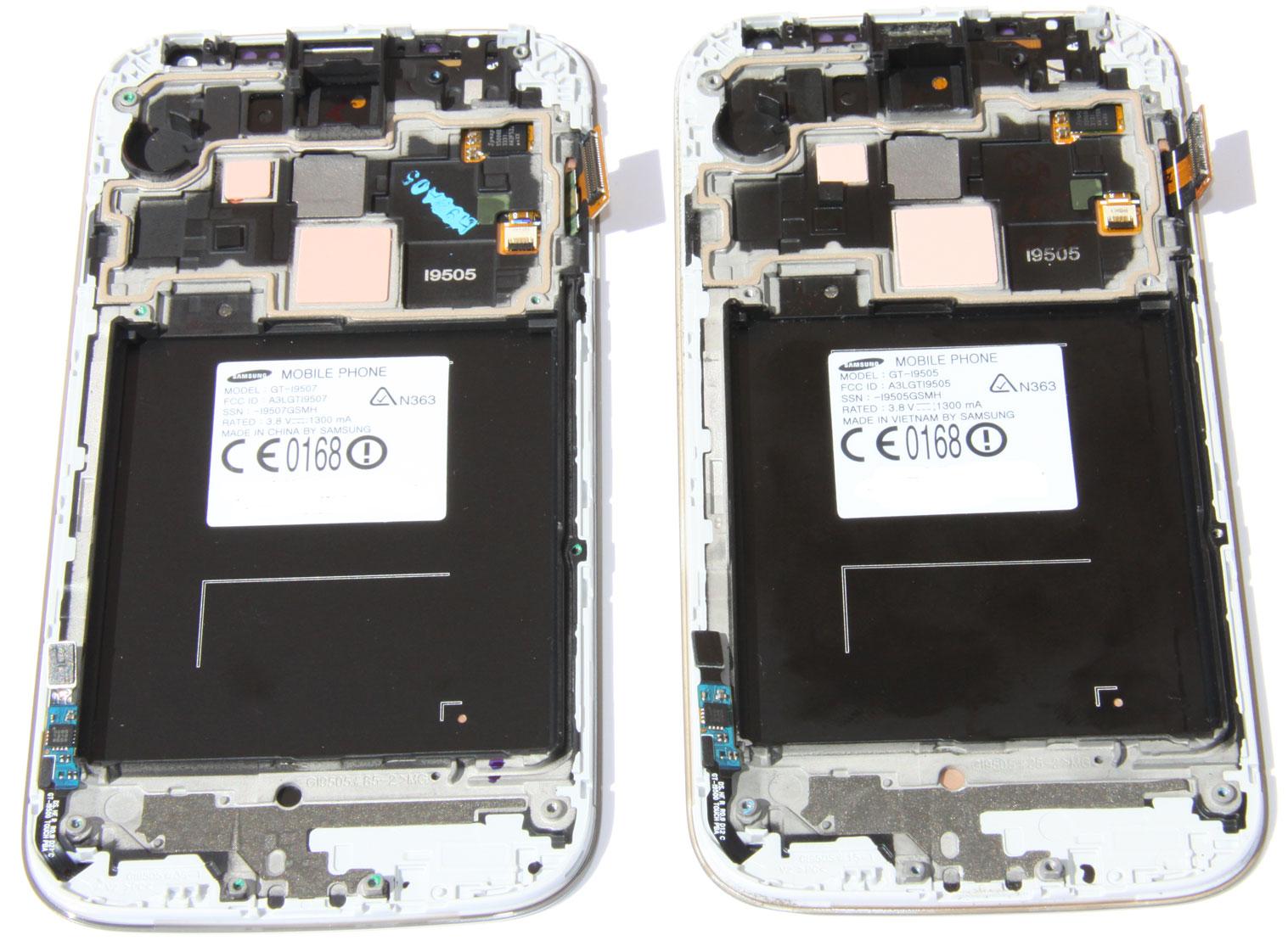 Samsung Galaxy S4 4g I9507 Vs I9505 Comparison I9500 New All Black Comparing The Screens For
